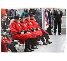 Chelsea Pensioners seated by City Hall Poster