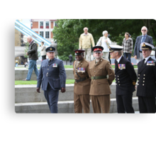 Members of all the Armed Forces at City Hall Canvas Print