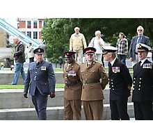 Members of all the Armed Forces at City Hall Photographic Print
