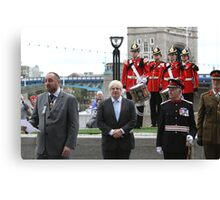 Boris Johnson at the Flag raising ceremony  Canvas Print