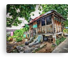 Old Wooden House HDR Canvas Print
