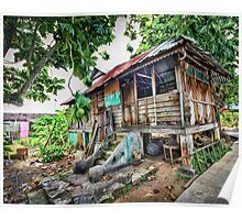 Old Wooden House HDR Poster