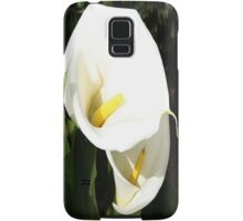 Beautiful White Calla Flowers In Bright Sunlight Samsung Galaxy Case/Skin