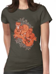 Fox Tangle Womens Fitted T-Shirt