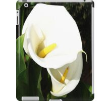 Beautiful White Calla Flowers In Bright Sunlight iPad Case/Skin