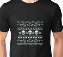 Winter Skull Sweater Green Unisex T-Shirt