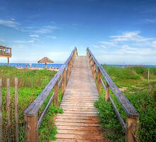 Walkway to the Beach by Susan Zohn