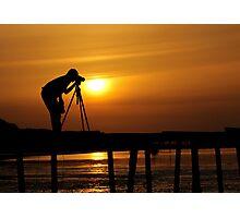 Photographer shooting the sunrise Photographic Print