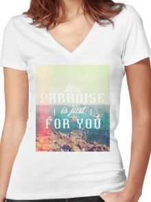 this Paradise (Scratched) Women's Fitted V-Neck T-Shirt