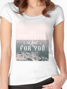 this Paradise (SplitTone) Women's Fitted Scoop T-Shirt