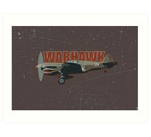 Vintage Look Curtis P-40 Warhawk Fighter Bomber Plane Art Print