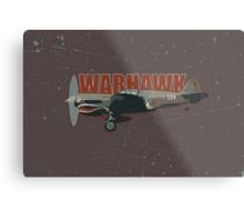 Vintage Look Curtis P-40 Warhawk Fighter Bomber Plane Metal Print