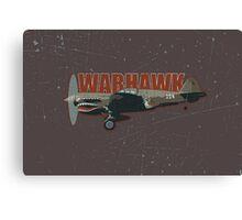 Vintage Look Curtis P-40 Warhawk Fighter Bomber Plane Canvas Print