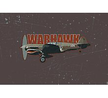 Vintage Look Curtis P-40 Warhawk Fighter Bomber Plane Photographic Print