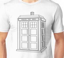 Timey Wimey Blue Box Unisex T-Shirt