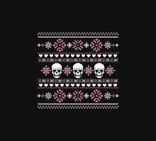 Winter Skull Sweater Pink Unisex T-Shirt
