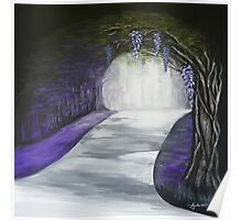 Mysterious Wisteria Poster