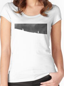 Two negative reindeer Women's Fitted Scoop T-Shirt