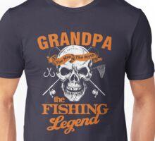 GRANDPA THE FISHING LEGEND Unisex T-Shirt