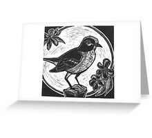 Midnight Mockingbird Greeting Card