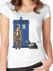 The Doctor and K-9 Women's Fitted Scoop T-Shirt