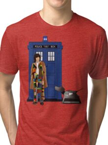 The Doctor and K-9 Tri-blend T-Shirt