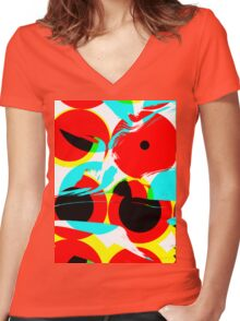 pinhole Women's Fitted V-Neck T-Shirt