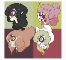 Dia De Los Muertos Adventure Time Girls by Inversidom-Riot
