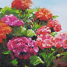 Garden Corner - Original Painting by Karen Ilari