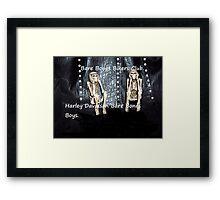 Bare Bones Biker Boys Framed Print
