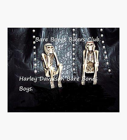 Bare Bones Biker Boys Photographic Print