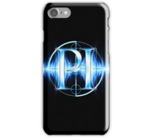 PI Radio Logo (Light Blue) iPhone Case/Skin