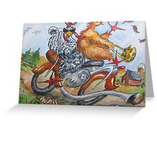 Fowl Play Series: Biker Chicks Greeting Card