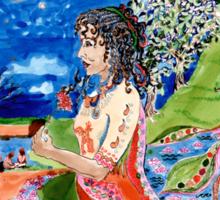Flower Girl's Story Sticker