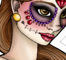 Day of the Dead Belle - Beauty and the Beast Sticker