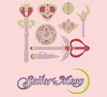 Sailor Moon Accessories w/logo by midnitekitten