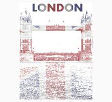 Union Jack Tower Bridge, London by John Evans