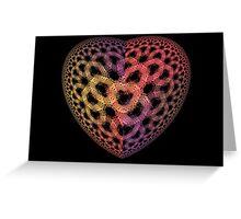 Heart Tiles Greeting Card