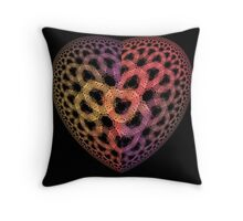 Heart Tiles Throw Pillow
