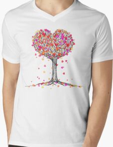 Love in the Fall Mens V-Neck T-Shirt