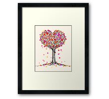 Love in the Fall Framed Print