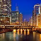 Chicago River at Night by Daisy Yeung
