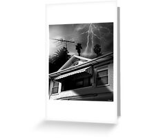 STORMY MONDAY Greeting Card