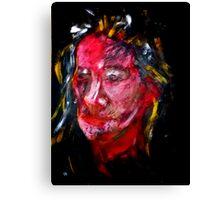 Portrait on black Canvas Print