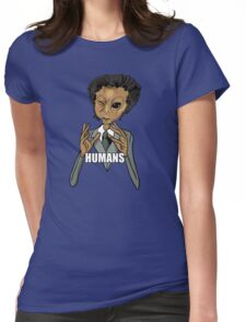 Humans... Womens Fitted T-Shirt