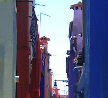 Colorful Burano Street by svchristian