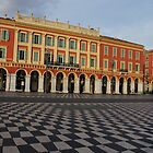 Nice, France - the Cheerful Colors of Place Massena  by Georgia Mizuleva