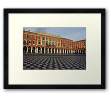 Nice, France, French Riviera - the Cheerful Colors of Place Massena  Framed Print