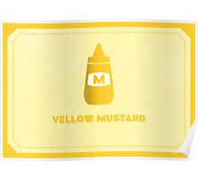 Yellow Mustard (Color Palate) Poster