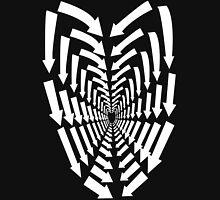 (Arrows) White Heart Unisex T-Shirt
